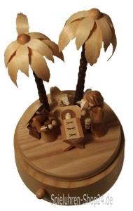 Spieluhr aus Holz,Christi Geburt in Betlehem, Erzgebirge Spieluhr