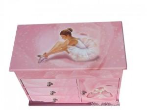 Große Musik Truhe mit Ballerina von Trousselier, B-Ware