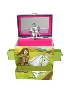 Kinder - Spieluhr, drehendes Pferd (Melodie: Sleeping Beauty)
