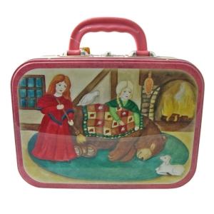 Lunchbox Metall Schneeweißchen und Rosenrot / B-Ware, Einzelstück