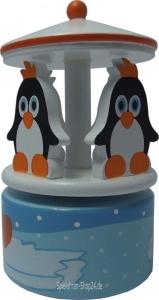 Spieluhr Karussell  aus Holz Pinguin