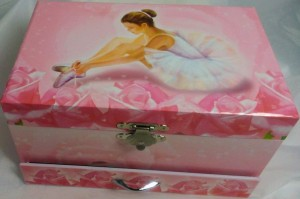 Rosa Spieluhr  Ballerina von Trousselier