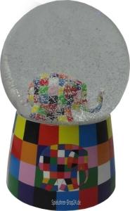 Elmar, Elefant in Schneekugel mit Spieluhr,Trousselier©