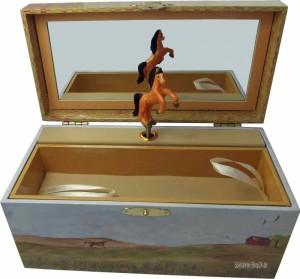 Kinder-Spieluhr, Pferd mit Fohlen - drehendes Pferd