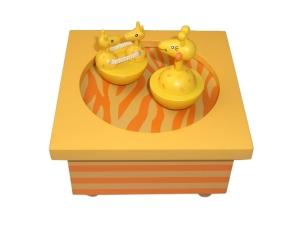 Spieluhr aus Holz, tanzende Giraffen, Trousselier