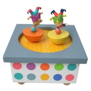 Musikdose Kleine Akrobaten tanzende Clowns, Trousselier