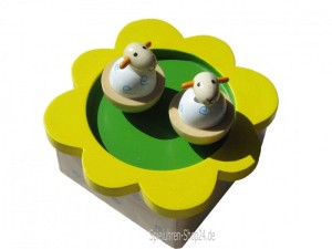 Kinder-Spieluhr,drehende Schafe aus Holz (B-Ware)