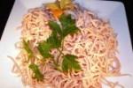 Wurstsalat geschnitten (Fleischwurst geschnitten: Fleischwurst fertig geschnitten 0,500kg)