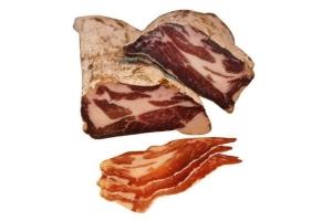 Coppa - luftgertockneter Schweinehals vom Schwäbisch-Hällischen Landschwein (Coppa: Coppa Luftgetrockneter Schinken nach Ital.Art 200gr geschnitten)