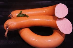 Delikatess-Fleischwurst im Ring - angeräuchert (Fleischwurst im Ring : 1/2 Stück/Ring ca. 300g)