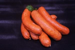 Bauernwurst - Käseknacker - geräuchert (Käsewürstchen geräuchert: Käsewürstchen 1 Stk. ca. 110gr)