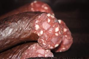 Schwarzwurst mit Chili (Schwarzwurst mit Chili: Schwarzwurstringle mit Chili ca.200-230gr.)