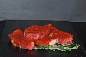 Rumpsteak mit Hot-Chili-Marinade (Rumpsteak mit Hot Chilimarinade: 1 Rumpsteak Hot Chilimarinade ca. 250 gr)