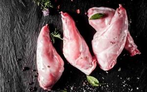 Kaninchenkeulen (Kaninchenkeule: 1 Stk.Kaninchenkeulen ca. 200 gr)