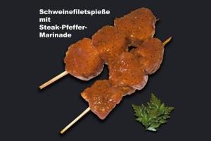 Schweinefiletspieße mit Steak-Pfeffer-Marinade (Schweinefiletspieß: 1x Schweinefiletspieß mit Steakpfeffer ca. 120gr)
