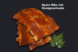 Spareribs mit Honigmarinade (Spare Ribs: Spareribs 500gr Paket)