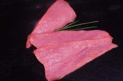 Kalbsschnitzel aus der Keule (Kalbsschnitzel: Kalbsschnitzel aus der Keule  dünn geschnitten 300gr)