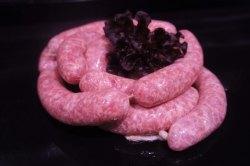 Grobe Bratwurst vom Schwäbisch-Hällischen-Landschwein (Frische grobe Bratwurst: Frische grobe Bratwurst 500gr ( ca. 5 Stk.))