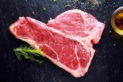 Porterhouse Steak - dry aged beef (T-Bone-Steak: Porterhousesteak ca.1,000kg)