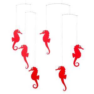 Mobile Seepferdchen (rot)