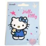 Hello Kitty © blau- Aufnäher zum bügeln