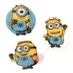 Minions © Aufnäher zum bügeln und nähen (Farbe: Minion einäugig)