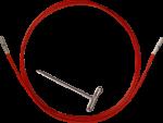 ChiaoGoo TWIST Red Seile MINI für Nadelspitzen 1,75mm-2,5mm (Länge: 55cm (für 80cm))