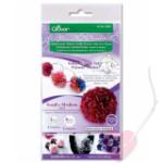 Clover Flower Frill Templates - Schablone für Stoff-Pompoms (Größe: klein und mittel)