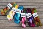 Drachenwolle Sockengarn Ein und Alles Weihnachten handgefärbt (Farbe: Märchenfilme)