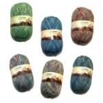 Ferner Wolle Lungauer Sockenwolle 4-fach Baumwolle Sockengarn (Farbe: 06.18 Dunkelblau-Grün)