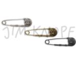 Jim Knopf Tuchnadel mit ornamentaler Schmuckschließe (Farbe: antik silber)