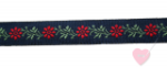 Jacquard - Webband Blumenranke 15mm
