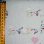 Bio-Canvas mit kleinen Rittern und Drachen aus 100% Baumwolle, kbA