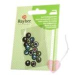 8 Paar Miniaugen  - Applikation zum bügeln und nähen