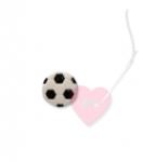 Fußball Ø15mm - Knopf mit Öse