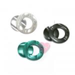 Große Magnetschließe aus Kunststoff in Perlmuttoptik (Farbe: perlweiß)