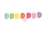 Buchstabenhits für Kids 18mm - 2-Loch Knopf D (Farbe: grün)