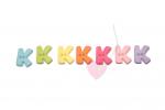 Buchstabenhits für Kids 18mm - 2-Loch Knopf K (Farbe: grün)