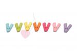 Buchstabenhits für Kids 18mm - 2-Loch Knopf V (Farbe: grün)