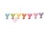 Buchstabenhits für Kids 18mm - 2-Loch Knopf Y (Farbe: grün)