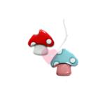 Fliegenpilz-Knopf 22mm - Zauberpilz mit Öse (Farbe: rot-weiß)