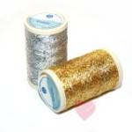 Coats Reflecta 100m Beilauffaden zum Sticken und Häkeln (Farbe: gold)