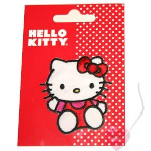 Hello Kitty © sitzend - Aufnäher zum bügeln