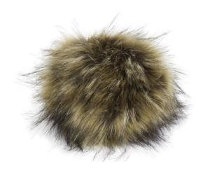 Kunstfellpompon XXXL  (20cm) - die tierfreundliche Pelz-Bommelvariante (Farbe: weiß-schwarz)