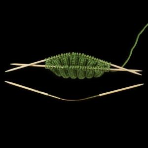 Addi CraSy Trio Bamboo Short 24cm Bambus Stricknadeln (Größe: Nadelstärke 3,5mm)