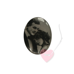 Schmuckknopf Paar 29mm mit antikem Foto