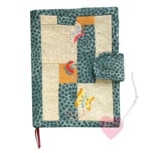 Handgenähte Notiz- und Tagebuchhülle Schmetterling