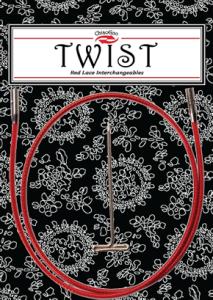 ChiaoGoo TWIST Red Seile SMALL für Nadelspitzen 2,75mm-5mm (Länge: 20cm (für 40cm))