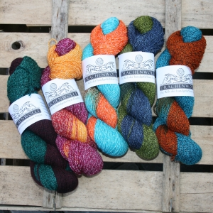 Drachenwolle Baumwollmischung -  auch für Socken geeignet (Farbe: Burgund hell)