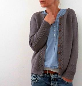 Rosy Green Wool Anleitung - Strickjacke Dustin von Isabell Kraemer